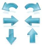 Flechas Imágenes de archivo libres de regalías