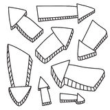 flechas Fotografía de archivo libre de regalías