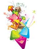 Flechas abstractas ilustración del vector