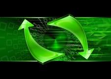 Flechas abstractas del verde de la tecnología Fotografía de archivo