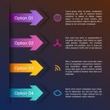 Flechas abstractas infographic Imágenes de archivo libres de regalías
