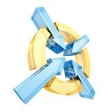 Flechas abstractas Logo Symbol del diseño de negocio Imágenes de archivo libres de regalías