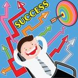 Flechas al éxito Foto de archivo libre de regalías