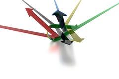 Flechas anudadas Foto de archivo libre de regalías