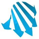Flechas azules 3d Imagen de archivo