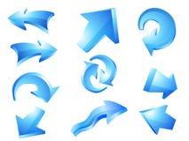 Flechas azules Ilustración del Vector