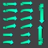 Flechas azulverdes de la señal Fotos de archivo libres de regalías