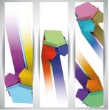 Flechas. Banderas abstractas del Web Imágenes de archivo libres de regalías