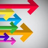Flechas - Bent Paper Arrow Set Fotos de archivo libres de regalías