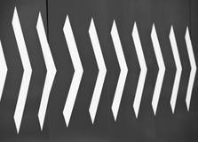 Flechas blancas Imagenes de archivo