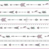 Flechas blancas del modelo inconsútil, estilo del boho Imagen de archivo libre de regalías