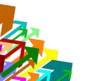 Flechas coloreadas Fotos de archivo libres de regalías
