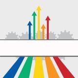 Flechas coloreadas ilustración del vector