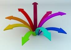 Flechas coloreadas Fotografía de archivo libre de regalías