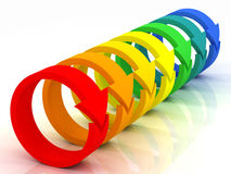 Flechas coloreadas Fotos de archivo
