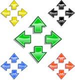 Flechas coloreadas Imagen de archivo libre de regalías