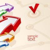 Flechas coloreadas con negocio del concepto de la blanco Imagen de archivo libre de regalías