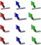 Flechas coloreadas del Web Fotografía de archivo libre de regalías