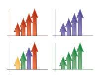 Flechas coloreadas vectoriales Foto de archivo libre de regalías