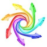 Flechas coloridas Imagen de archivo libre de regalías