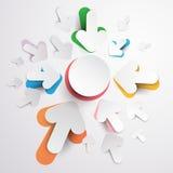 Flechas coloridas Imágenes de archivo libres de regalías