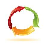Flechas coloridas 3d Foto de archivo