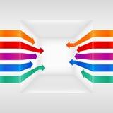 Flechas coloridas 3d stock de ilustración