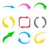 Flechas coloridas Imagen de archivo