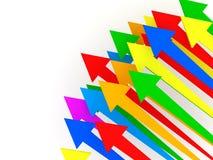 Flechas coloridas en el fondo blanco Fotos de archivo