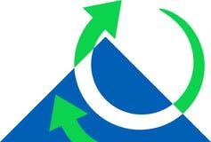 Flechas con el triángulo Fotos de archivo libres de regalías
