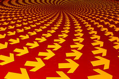 Flechas concéntricas ilustración del vector