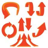 flechas 3D Fotografía de archivo