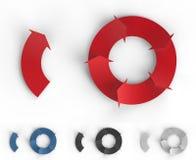 Flechas de Infographic Fotos de archivo libres de regalías