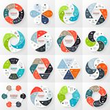 Flechas de Infographic, diagrama, pasos, 6 opciones ilustración del vector