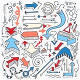 Flechas de Infographic fijadas Fotografía de archivo libre de regalías