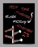 Flechas de la dirección Tarjeta de la bandera de Black Friday Fotografía de archivo