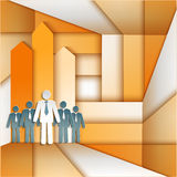 Flechas de la gente de Infographics Imagen de archivo libre de regalías