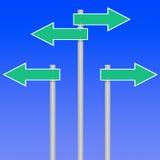 Flechas de la muestra de camino libre illustration