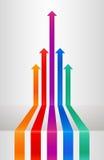 Flechas de la perspectiva ilustración del vector