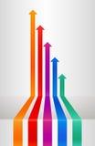 Flechas de la perspectiva stock de ilustración