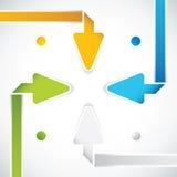 Flechas de la presentación Template.Business Foto de archivo