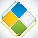Flechas de la presentación Template.Business Imágenes de archivo libres de regalías