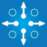 Flechas de la presentación Template.Business Imagenes de archivo