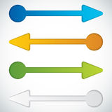 Flechas de la presentación Template.Business Imagen de archivo libre de regalías