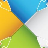 Flechas de la presentación Template.Business Fotos de archivo libres de regalías