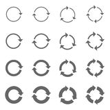 Flechas de la rotación fijadas Fotos de archivo