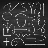 Flechas de la tiza fijadas libre illustration