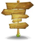 Flechas de madera de las señales de tráfico ilustración del vector