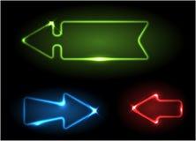 Flechas de neón verdes, azules y rojas libre illustration