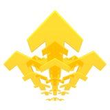 Flechas de oro Fotografía de archivo